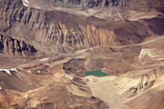 Aerial Posters - Glacial Lake In Cold Desert Poster by My Photography is Combination of Vision, Passion and Creativ