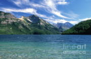 St Mary Lake Framed Prints - Glacier National Park Framed Print by Sandra Bronstein