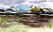 Glacier Near Juneau Print by Mindy Newman