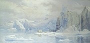 Snowfall Paintings - Glacier by Tristram Ellis
