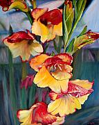 Gladiolas Posters - Glad To Be Gladiolas Poster by Jennifer Lycke