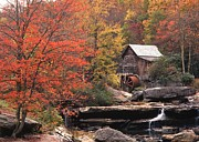 Old Mills Prints - Glade Creek Grist Mill    Horizontal Print by Craig Ratcliffe