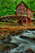 Grist Mill Posters - Glade Creek Grist Mill Poster by Adam Jewell