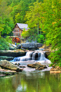 Rustic Scene Posters - Glade Creek Grist Mill Poster by Darren Fisher