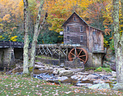 Grist Mill Prints - Glade Creek Grist Mill Print by Jack Schultz