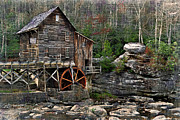 Grist Mill Prints - Glade Creek Grist Mill Print by Kathy Jennings