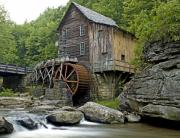Grist Mill Art - Glade Creek Grist Mill located in Babcock State Park West Virginia by Brendan Reals