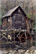 Grist Mill Posters - Glade Creek Grist Mill Series II Poster by Kathy Jennings