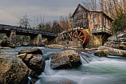 Rapids Digital Art Framed Prints - Glade Creek Grist Mill  Framed Print by Wade Aiken
