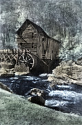 Rustic Mill Framed Prints - Glade Creek Mill in infrared. Framed Print by Jill Battaglia