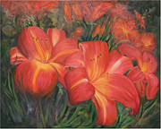 Gladiola Paintings - Gladiola 1516 by Wanta Davenport