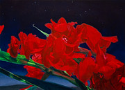Gladiolas Painting Framed Prints - Gladiolas Framed Print by Gregory Van Raalte