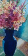 Gladiola Paintings - Gladioli-Blue by Marlene Book