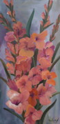 Gladiolus Paintings - Gladiolus by Cher Devereaux