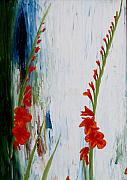 Gladiolus Paintings - Gladiolus  by Ivan Rijhoff