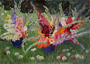 Olga Gorbacheva - Gladioluses and Apples