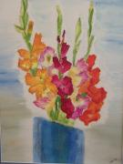 Gladiolas Painting Framed Prints - Glads Framed Print by Michele Congdon