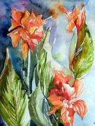 Garden Drawings - Glads by Mindy Newman