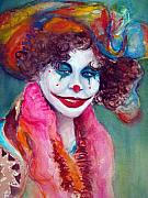 Female Clown Paintings - Glamorous by Myra Evans