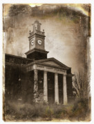 Tintype Prints - Glasgow KY Courthouse Print by Amber Flowers