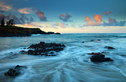 Seascape Photo Posters - Glass Beach Dawn Poster by Mike  Dawson
