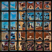 Glass Brick Abstract Print by Chris Lord