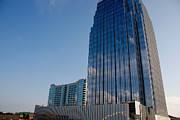Glass Buildings Framed Prints - Glass Buildings Nashville Framed Print by Susanne Van Hulst