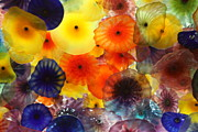 Belagio Prints - Glass Flowers Print by Erin Rosenblum