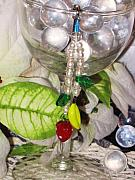 Food And Beverage Jewelry Originals - Glass Fruit Cell Phone Charm by Jamie Pool