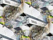 Library Digital Art - Glass House by Tim Allen