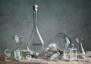 Glass Bottles Prints - Glass Print by Nailia Schwarz