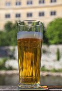 Cesky Krumlov Prints - Glass of Beer Print by David Buffington