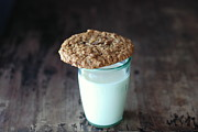 Oatmeal Posters - Glass Of Milk Poster by Shawna Lemay
