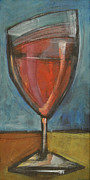 Stylized Beverage Paintings - Glass Of Red by Tim Nyberg