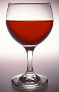 Alcoholic Drink Prints - Glass Of Red Wine Print by Victor De Schwanberg