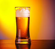 Beer Photos - Glass of refreshing beer by Anna Omelchenko