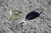 Wine-glass Prints - Glass of white wine Print by Mats Silvan