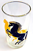 Susan Leggett Prints - Glass of Wild Horses Print by Susan Leggett
