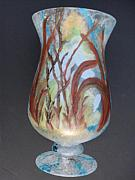 Vase Glass Art Metal Prints - Glass painting 101  Metal Print by Warren Thompson