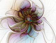 Purple Flora Digital Art Prints - Glass Petals Print by Amanda Moore