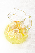 Glass Pitcher Of Lemonade Print by Andee Photography
