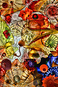Wendy White Acrylic Prints - Glass Shapes 4 Acrylic Print by Wendy White