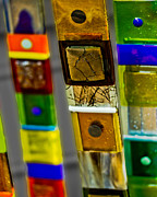 Squares. Linear Photos - Glass Sticks by Gallery Three