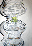 Glass Drawings - Glass study by Lisa Stanley