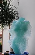 Glass Wall Sculptures - Glass Through a Veil by NakedArt ForeverYoung