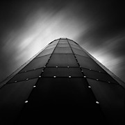 Architecture And Building Prints - Glass Tower Print by David Bowman