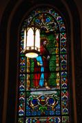 Santa Fe Magic - Glass Window of Saint Philip in the Basilica in Santa Fe  by Susanne Van Hulst