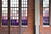 Window Panes Framed Prints - Glass Window Panes on Brick Building Framed Print by Eddy Joaquim