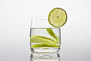 Lemon Photos - Glass With Lemonade by Joana Kruse
