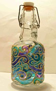 Waves Glass Art - Glass With Waves by Danuta Duminica